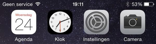 Geen service iPhone